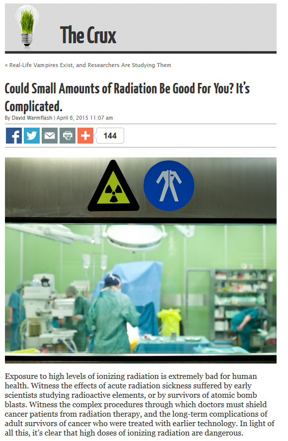 Could small amounts of radiation...